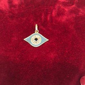18kt gold Evil  eye charm